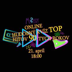 Online Mystery kvíz top hitov 90. rokov